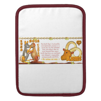 Valxart 1958 2018 2078 EarthDog zodiac Aries iPad Sleeves