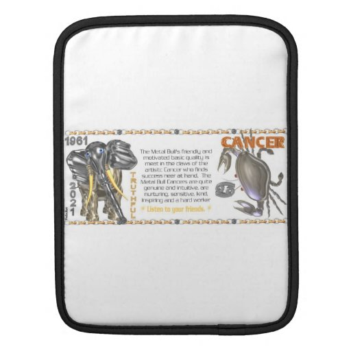 Valxart 1961 2021 MetalBull zodiac Cancer iPad Sleeve
