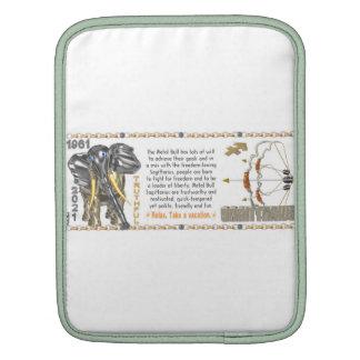 Valxart 1961 2021 MetalBull zodiac Sagittarius iPad Sleeves