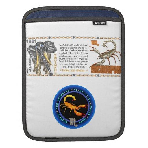 Valxart 1961 2021 MetalBull zodiac Scorpio Sleeve For iPads