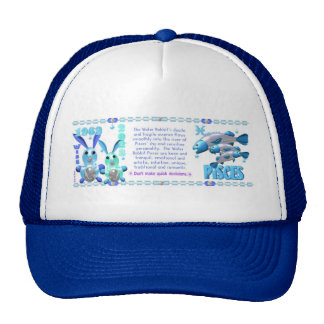 Valxart 1963 2023 WaterRabbit zodiac Pisces Mesh Hat
