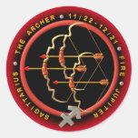Valxart 1966 2026 Fire Horse zodiac Sagittarius Round Stickers