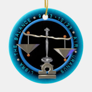 Valxart 1968 2028 EarthMonkey zodiac Libra Ornament
