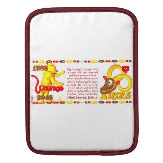 Valxart 1986 2046 FireTiger zodiac Aries iPad Sleeves