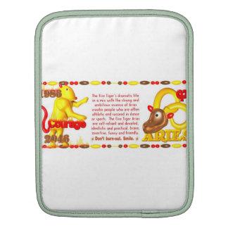 Valxart 1986 2046 FireTiger zodiac Aries Sleeves For iPads