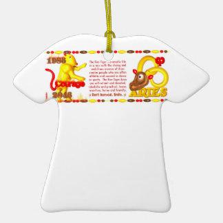 Valxart 1986 2046 FireTiger zodiac Aries Ornaments