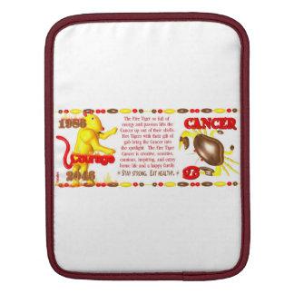 Valxart 1986 2046 FireTiger zodiac Cancer Sleeve For iPads
