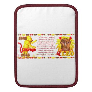 Valxart 1986 2046 FireTiger zodiac Leo Sleeve For iPads