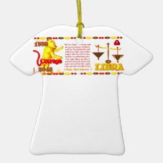 Valxart 1986 2046 FireTiger zodiac Libra Christmas Tree Ornament