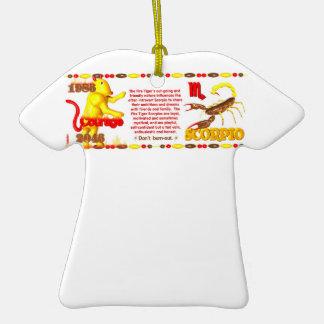 Valxart 1986 2046 FireTiger zodiac Scorpio Christmas Ornament
