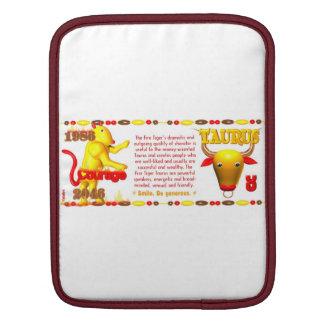 Valxart 1986 2046 FireTiger zodiac Taurus iPad Sleeves