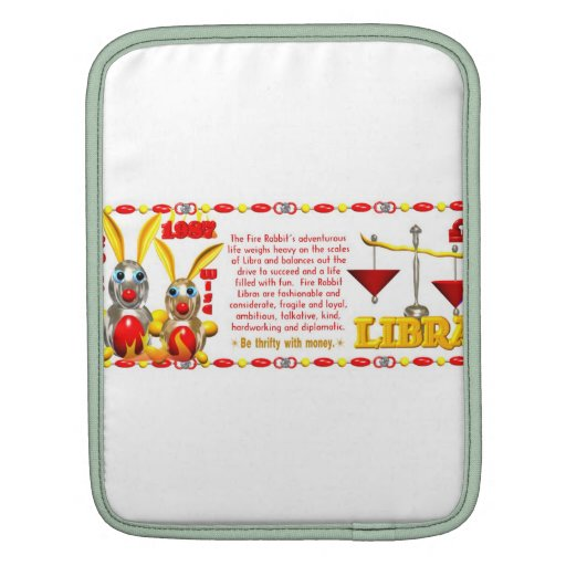 Valxart 1987 2047 FireRabbit zodiac Libra Sleeves For iPads