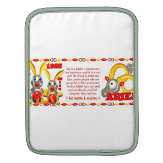 Valxart 1987 2047 FireRabbit zodiac Libra Sleeve For iPads