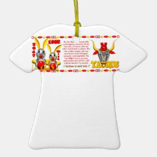 Valxart 1987 2047 FireRabbit zodiac Taurus Christmas Tree Ornaments