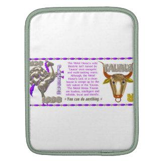 Valxart 1990 2050 MetalHorse zodiac Taurus Sleeve For iPads