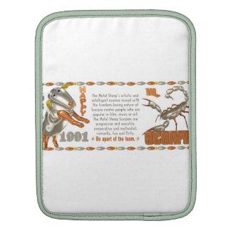 Valxart 1991 2051 MetalSheep zodiac Scorpio Sleeves For iPads