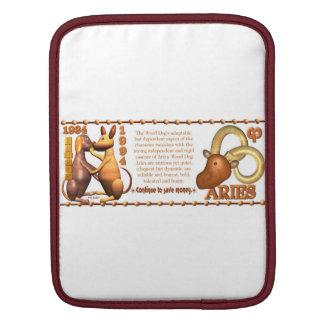 Valxart 1994 2054 WoodDog zodiac Aries iPad Sleeve