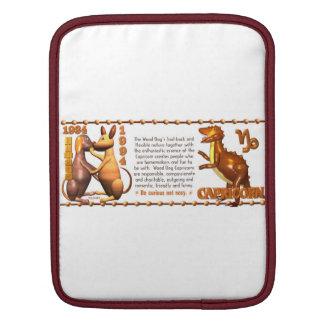 Valxart 1994 2054 WoodDog zodiac Capricorn iPad Sleeve