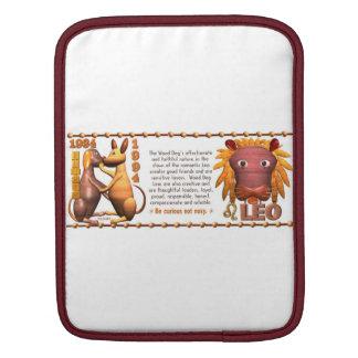 Valxart 1994 2054 WoodDog zodiac Leo iPad Sleeve