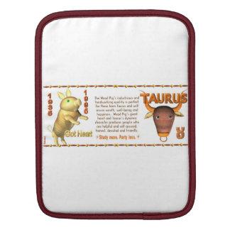 Valxart 1995 2055 WoodPig zodiac Taurus iPad Sleeve