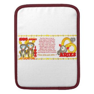 Valxart 1996 2056 FireRat zodiac Aries iPad Sleeves