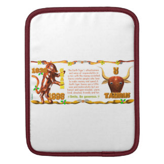 Valxart 1998 1938 2058 zodiac EarthTiger Taurus Sleeves For iPads