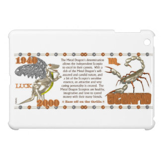 Valxart 2000 1940 2060 zodiac Metal Dragon Scorpio iPad Mini Cover