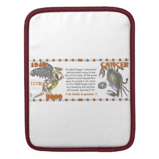 Valxart 2000 1940  2060 zodiac MetalDragon Cancer iPad Sleeve