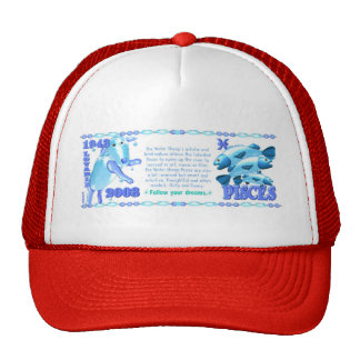 Valxart 2003 1943 2063 zodiac WaterSheep Pisces Mesh Hat