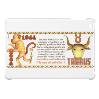 Valxart 2004 1944 2064 zodiac Wood Monkey Taurus iPad Mini Case