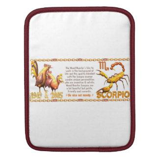 Valxart 2005 1945 2065 zodiac WoodRooster Scorpio Sleeves For iPads