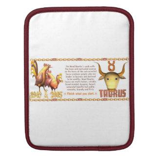Valxart 2005 1945 2065 zodiac WoodRooster Taurus iPad Sleeve