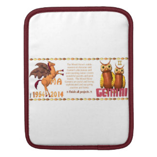 Valxart 2014 1954 2074 WoodHorse zodiac Gemini iPad Sleeves