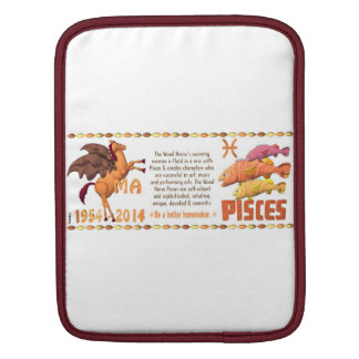 Valxart 2014 1954 2074 WoodHorse zodiac Pisces Sleeves For iPads