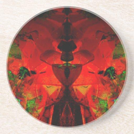 Valxart abstract jello art drink coaster