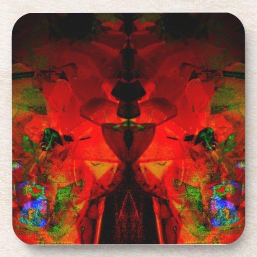 Valxart abstract jello art beverage coasters