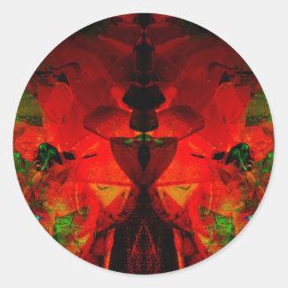 Valxart abstract jello art round sticker