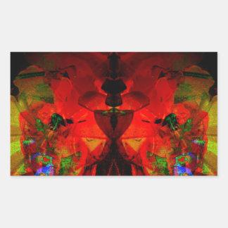 Valxart abstract jello art rectangle stickers