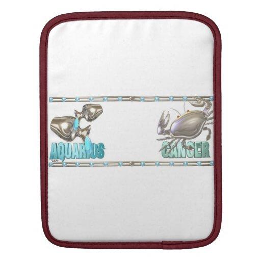 Valxart Aquarius Cancer zodiac friendship Sleeves For iPads