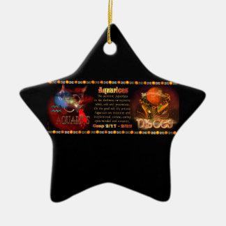 Valxart Aquarius Pisces zodiac Cusp Ceramic Star Decoration