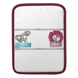 Valxart Aquarius Virgo zodiac friendship iPad Sleeves