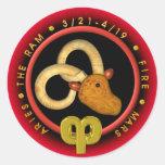 Valxart Aries  zodiac logo Sticker