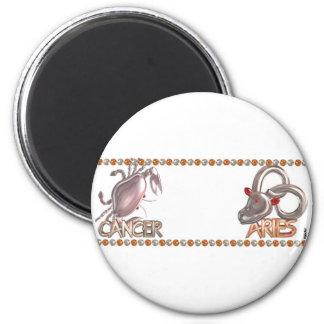 Valxart Cancer Aries zodiac friendship gift 6 Cm Round Magnet
