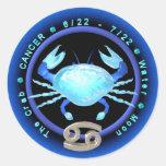 Valxart Cancer zodiac logo Round Stickers