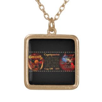 Valxart Capriquarius Capricorn Aquarius Cusp Gold Plated Necklace