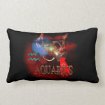 Valxart creepy zodiac born Aquarius Throw Pillows