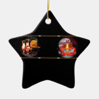 Valxart Gemincer is Gemini Cancer zodiac Cusp Double-Sided Star Ceramic Christmas Ornament
