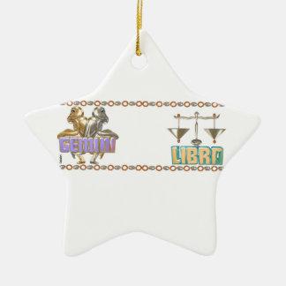 Valxart Gemini Libra astrology friendship Ornament