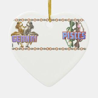 Valxart Gemini Pisces friendship astrology Ceramic Heart Decoration