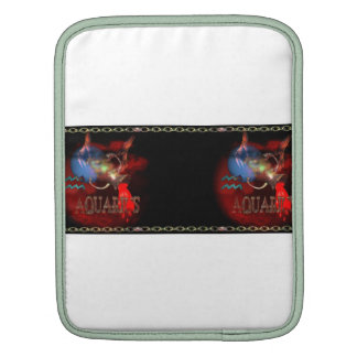 Valxart Gothic Aquarius zodiac astrology iPad Sleeve